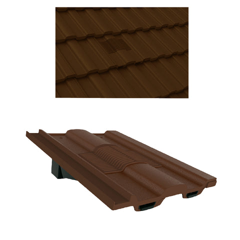 Dark Brown Castellated Roof Tile Vent & Adapter / Marley Ludlow Redland