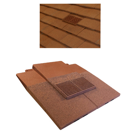 Granulated Sand Red Plain In-line Roof Tile Vent & Pipe Adapter