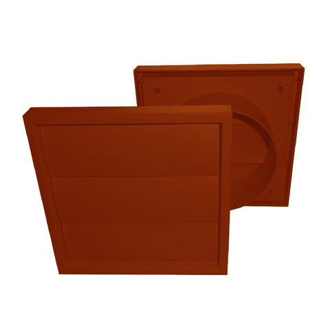 Terracotta Extractor Fan Air Vent Gravity Flap for 4 Inch Ducting