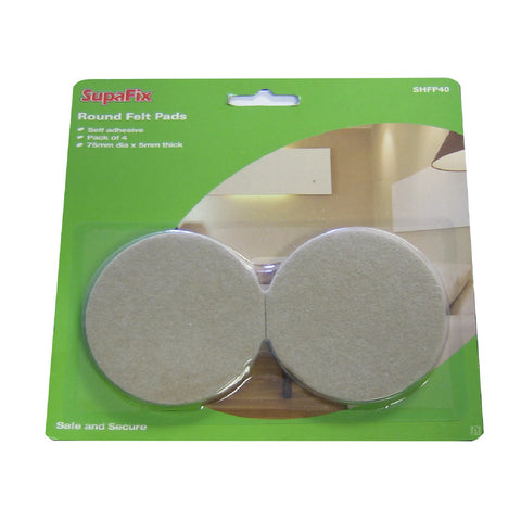 4 x Self Adhesive Felt Pad Guards / Furniture Floor Protection