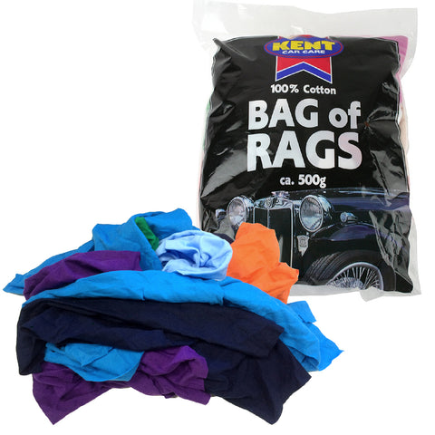 500g Cotton Cleaning Rags, Car Care, Dusting, Polishing, Mechanics Etc