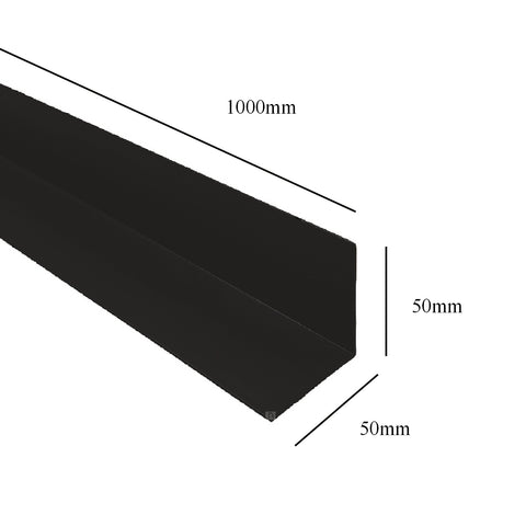 Black 1 Metre UPVC Angle 50 x 50mm Corner Trim <br> Menu Options