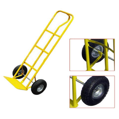 600LB Heavy Duty Sack Truck Industrial Hand Trolley Pneumatic Tyres
