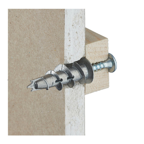 100 x Metal Plasterboard Anchors & Screws<br><br>