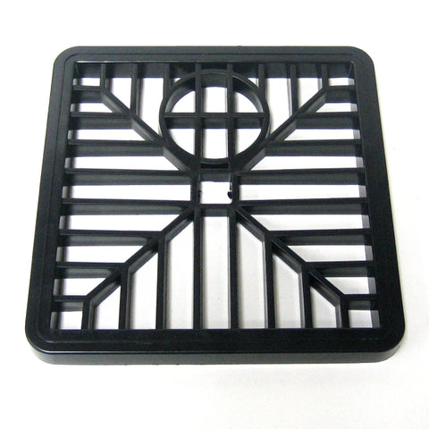 6 Inch Black Drain Cover Square Gulley Grid <br><br>