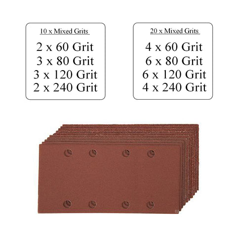 Punched 1/3 Sanding Sheets <br>93 x 190mm<br>Menu Options