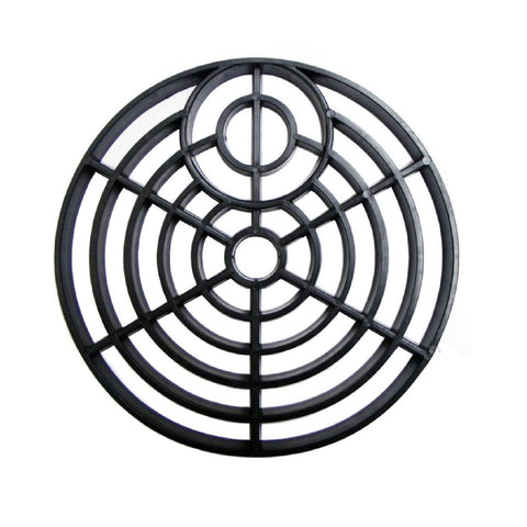 6 Inch Black Drain Cover Round Gulley Grid <br><br>