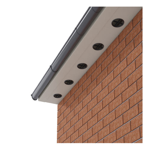 White Plastic 70mm Soffit Push Fit Air Vents <br> Menu Options