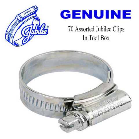 70 x Genuine Assorted Jubilee Hose Clips. Worm Drive. <br><br>