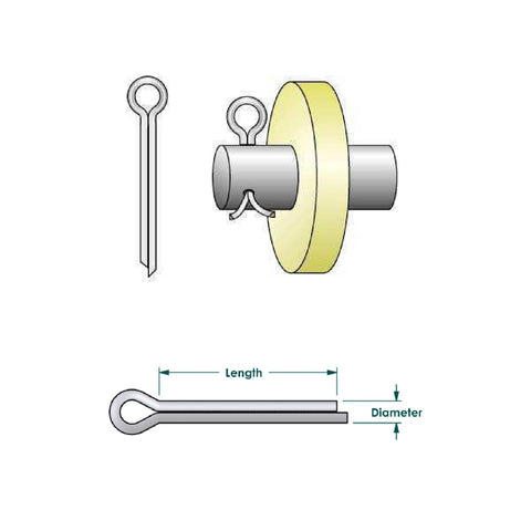 Metric Split Cotter Pins for Securing Clevis Pins<br><br>