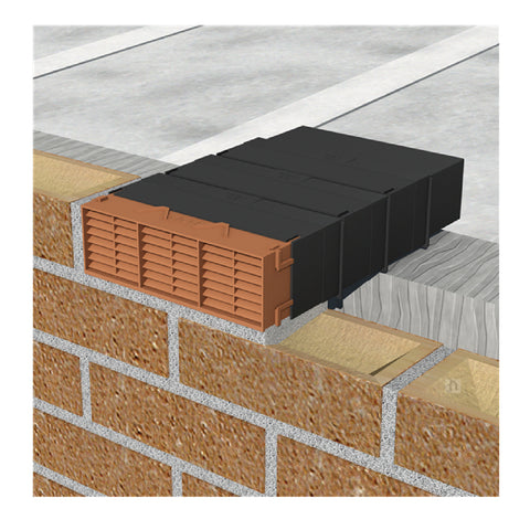 "9"" x 3"" Manthorpe Extendable Combination Cavity Wall Sleeve Vent"