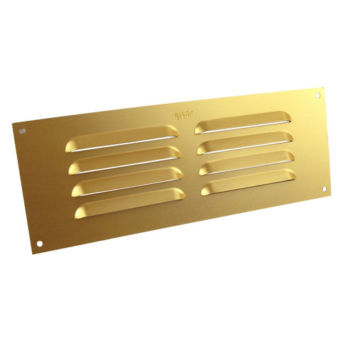 "9"" x 3"" Brass Aluminium Louvre Air Vent Grille Ventilation Cover"