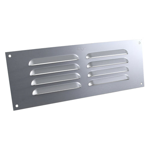 "9"" x 3"" Aluminium Louvre Air Vent Satin Chrome Grille Cover"