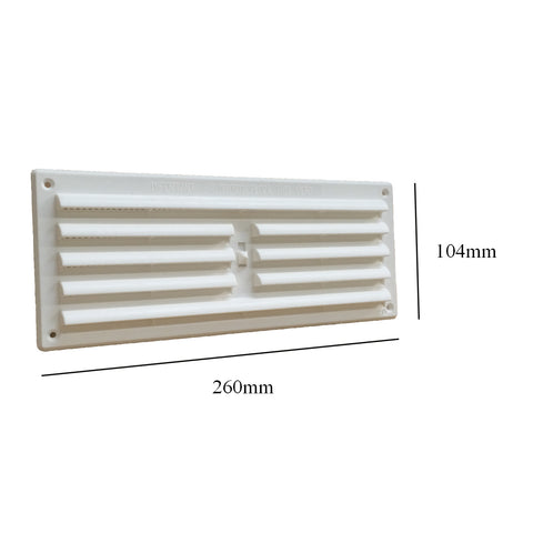 "9"" x 3"" White Adjustable Air Vent Louvre Grille Cover Hit & Miss"
