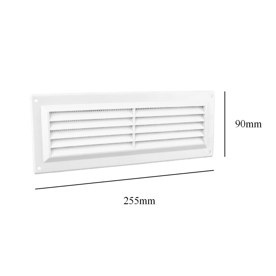 Home, Furniture & DIY 9 x 3 White Plastic Louvre Air Vent Grille