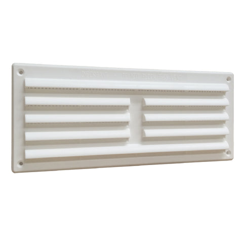 "9"" x 3"" White Louvre Air Vent Grille with Removable Flyscreen Cover"