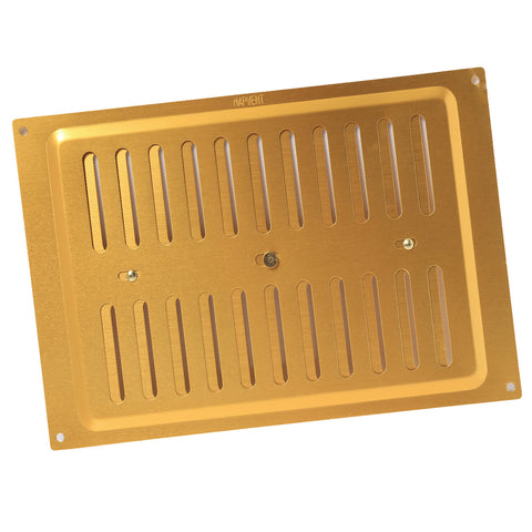 "9"" x 6"" Brass Adjustable Air Vent / Metal Grille Ventilation Cover"