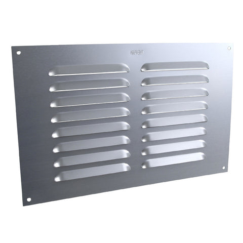"9"" x 6"" Aluminium Louvre Air Vent Satin Chrome Grille Cover"