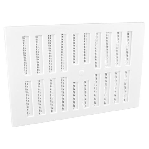 "9"" x 6"" White Adjustable Air Vent Grille with Flyscreen Cover"
