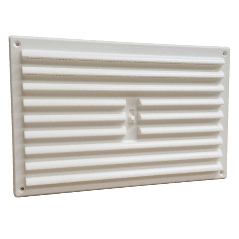 "9"" x 6"" White Adjustable Air Vent Louvre Grille Cover Hit & Miss"