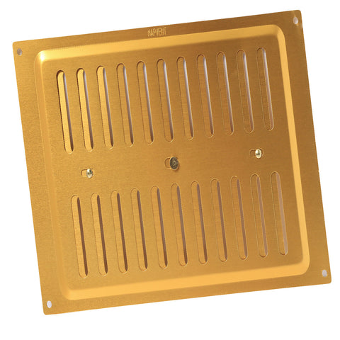 "9"" x 9"" Brass Adjustable Air Vent / Metal Grille Ventilation Cover"