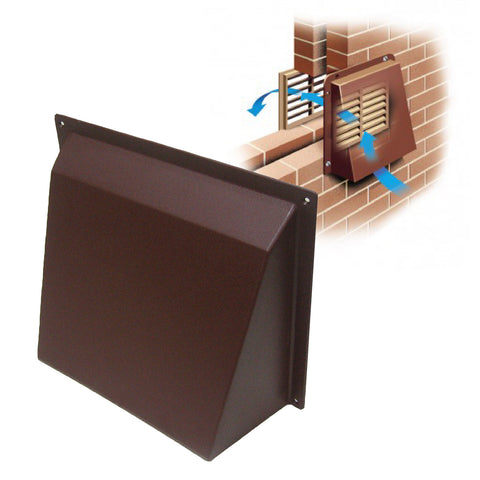 Brown Hooded Cowl Vent Cover for Air Bricks Grilles Extractors Vents