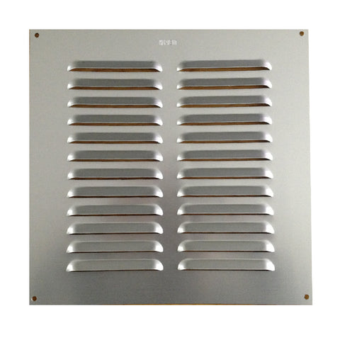 "9"" x 9"" Aluminium Louvre Air Vent Satin Chrome Grille Cover"