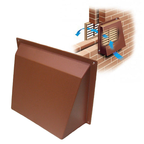 Terracotta Hooded Cowl Vent Cover for Air Bricks Grilles Extractors