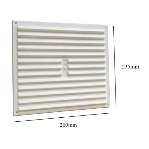 "9"" x 9"" White Adjustable Air Vent Louvre Grille Cover Hit & Miss"