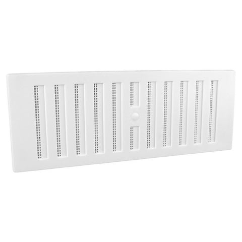 "9"" x 3"" White Adjustable Air Vent Grille with Flyscreen Cover"