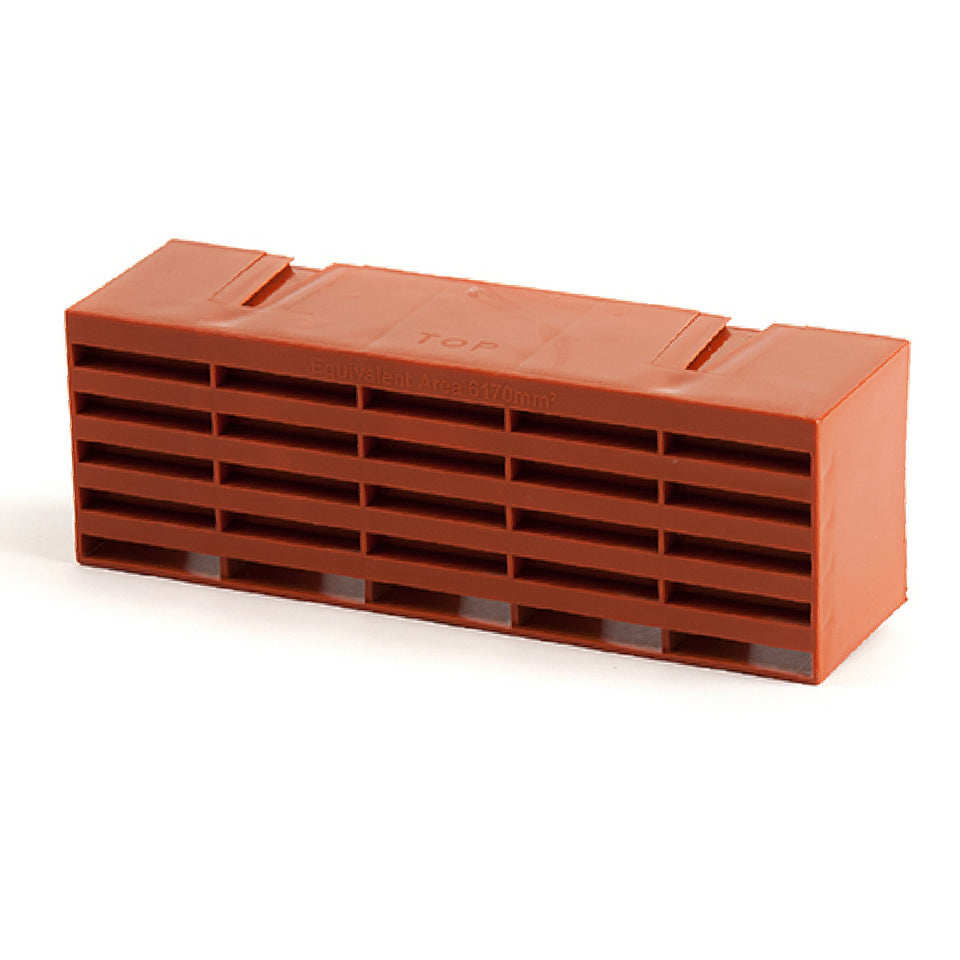 """Colour /& Pack Size Options Air Bricks Vent 9/"""" x 3/"""" brick Grille Wall AirBrick"""