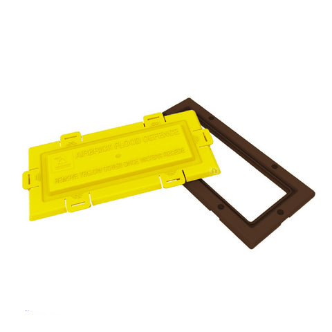 Brown Framed Flood Water Defence Protection Airbrick Cover