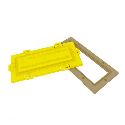 Air brick flood water defence frame and cover / Colour Options