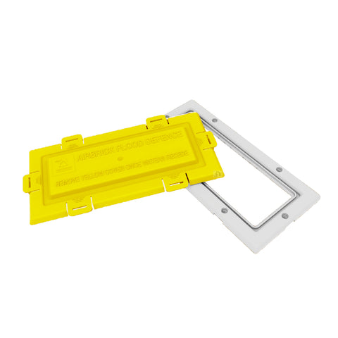 White Framed Flood Water Defence Protection Airbrick Cover