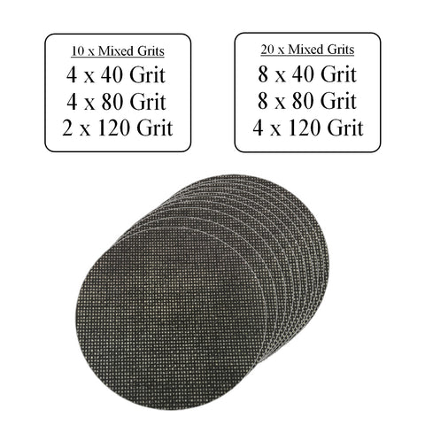 Hook & Loop 125mm Mesh Orbital Sanding Discs  <br> Menu Options