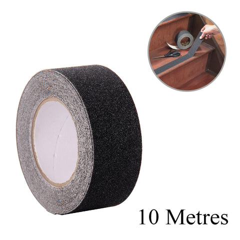 Anti Slip Self Adhesive Black Grit Tape 10 Metres<br><br>