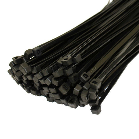 100 x Black Cable Ties 100mm x 2.5mm / Zip Ties<br><br>
