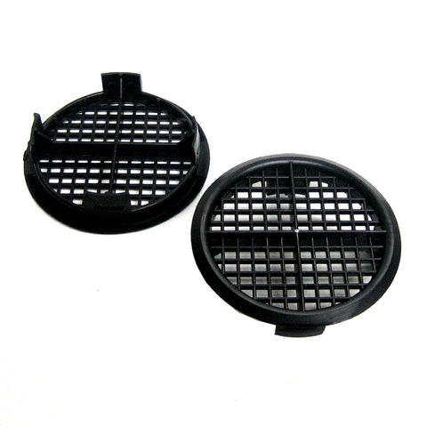 Black Plastic 70mm Soffit Push Fit Air Vents <br> Menu Options