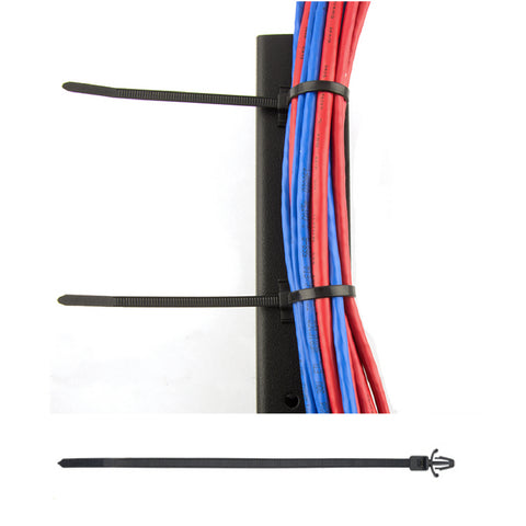 100 x Natural Push Mount Winged Cable Ties 100mm x 2.5mm