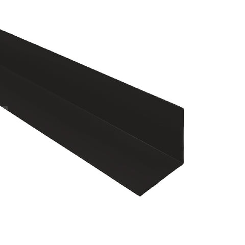 2 x Black UPVC Plastic Rigid Angle 50mm x 50mm x 2.4 Metre