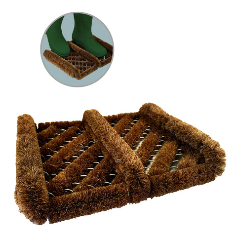 Boot Scraper Brush Door Natural Coir Mat<br><br>
