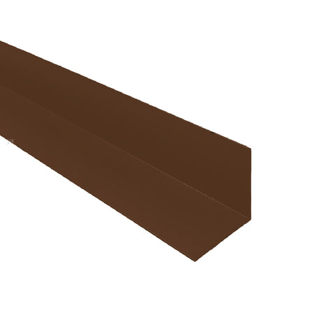 Brown 1 Metre UPVC Angle 25mm x 25mm Corner Trim <br> Menu Options