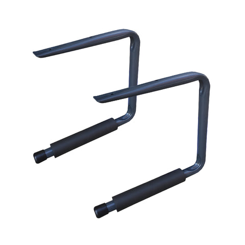 2 x Ceiling Mounted 415mm Bike Storage Hooks <br><br>