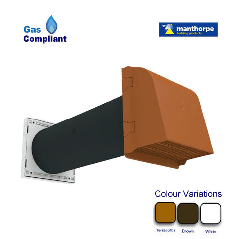5 Quot Cavity Core Gas Vent With Anti Draught Cowl Homesmart