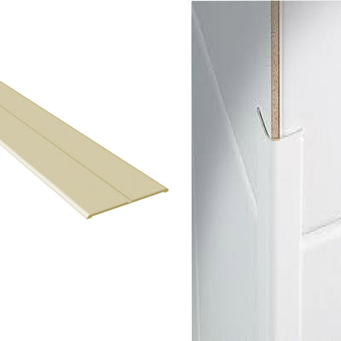 Cream Corner Wall Protector Plastic Flexi Angle <br>Menu Options