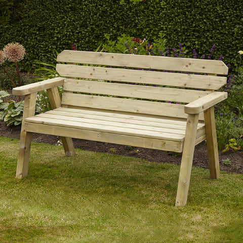 Exmouth 2 Seater Wooden Garden Bench 4ft Pressure Treated