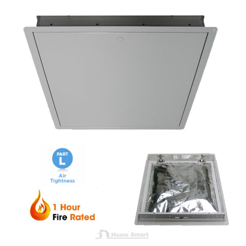 Fire Rated Steel Loft Trap Door Hinged Insulated / Size Options