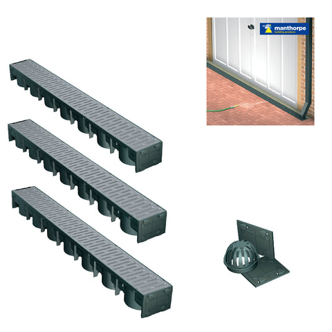 Garage Drainage Silver 3 Metre Pack & Accessories.<br><br>