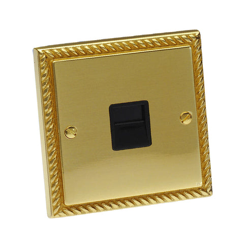 Electrical Georgian Brass Rope Sockets & Switches /  Menu Options
