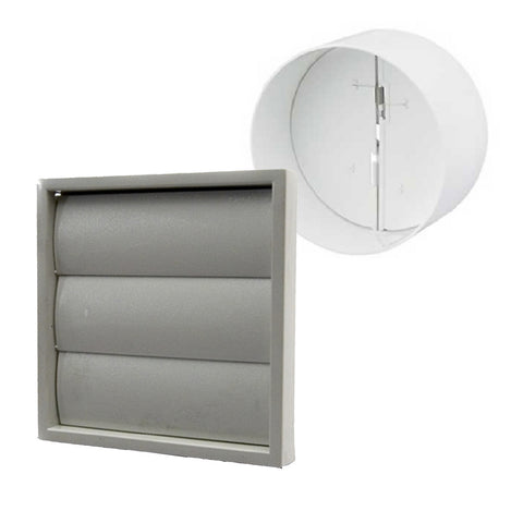 Grey Gravity Flap Air Vent & Back Draught Shutter 4 Inch<br><br>